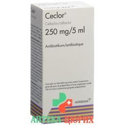Цеклор суспензия 250 мг / 5 мл флакон 100 мл