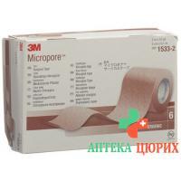 3M Micropore Vlies Heftpflaster ohne диспенсер 50мм x 9.14m beige 6 штук