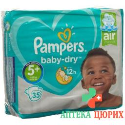 Pampers Baby Dry размер 5+ 13-27кг Jun Pl Sparpa 35 штук