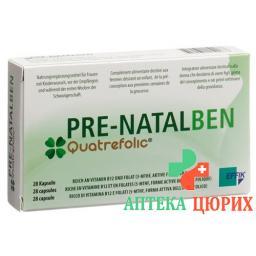 Pre Natalben в капсулах 28 штук