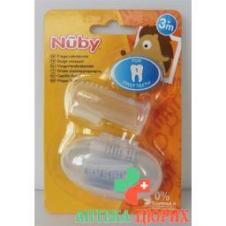 Nuby Finger-zahnburste mit Aufbewahrungsbox