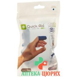 Quick Aid пластырей 6x100см Latexfrei Blau