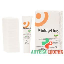 Blephagel Duo гель 30г + 100 Kompressen