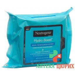 Neutrogena Hydro Boost Aqua очищающие салфетки 25 штук