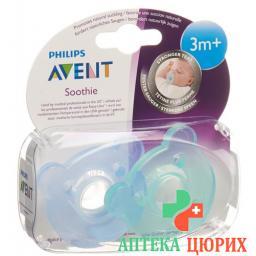 Avent Philips Soothie Nuggi Blau/grun 3-6m 2 штуки