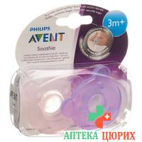 Avent Philips Soothie Nuggi Pink/viole 3-6m 2 штуки