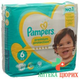 Pampers Premium Prot размер 6 15+kg Sparpack 31 штука
