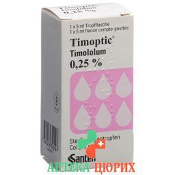 Тимоптик 0.25% 5 мл глазные капли