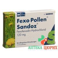 Fexo Pollen Sandoz Filmtabl 120 мг 10 шт