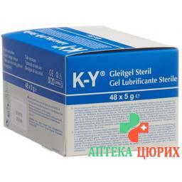 K Y Gelee Gleitmittel стерильный (neu) 48x 5г