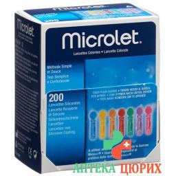 Microlet ланцеты Farbig 200 штук