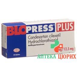 Блопресс Плюс 16/12,5 мг 98 таблеток
