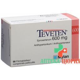 Теветен 600 мг 98 таблеток
