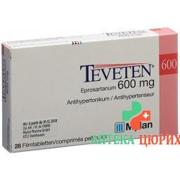 Теветен 600 мг 28 таблеток покрытых оболочкой