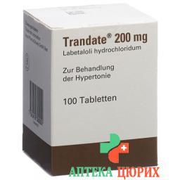 Трандат 200 мг 100 таблеток