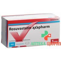 Розувастатин Аксафарм 5 мг 100 таблеток покрытых оболочкой