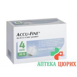 ACCU-FINE 4MMX32G 100 STK