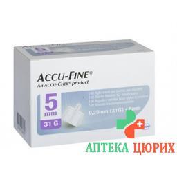 ACCU-FINE 5MMX31G 100 STK