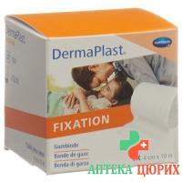 Dermaplast марлевый бинт фиксированный обрез 10мX4см
