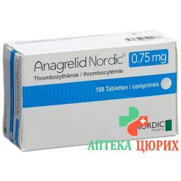 Анагрелид Нордик 0,75 мг 100 таблеток