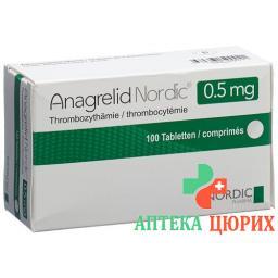 Анагрелид Нордик 0,5 мг 100 таблеток