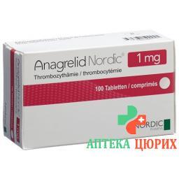 Анагрелид Нордик 1 мг 100 таблеток