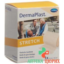 Dermaplast Stretch марлевый бинт телесный цвет 6смx10м