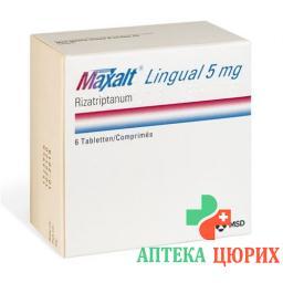 Максалт Лингвал 5 мг 6 подъязычных таблеток