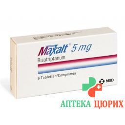 Максалт 5 мг 6 таблеток