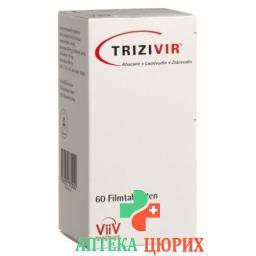 Тризивир 300 мг/150 мг/300 мг 60 таблеток покрытых оболочкой