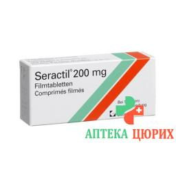 Серактил 200 мг 30 таблеток покрытых оболочкой
