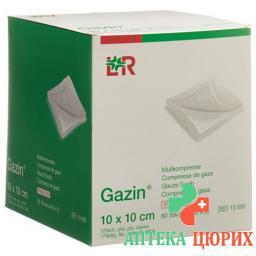 Gazin Mullkompresse 10x10см 12-fach стерильный 40x 2 штуки