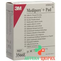 3M Medipore + Pad 10x10см / Wundkissen 5x5.5см 25 штук