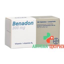 Бенадон 300 мг 10 таблеток
