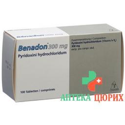 Бенадон 300 мг 100 таблеток