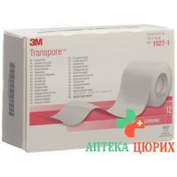 3M Transpore фиксирующий пластырь 25мм x 9.14m прозрачный 12 штук