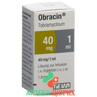 Обрацин 40 мг/мл флакон 1 мл раствор для инъекций