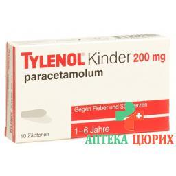 Тайленол Детский 200 мг 10 суппозиториев