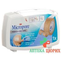 3M Micropore Vlies Heftpflaster mit диспенсер 12.5мм x 5m телесный цвет
