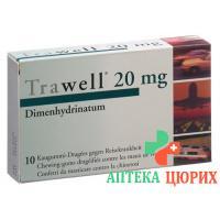 Травел 20 мг 10 жевательных таблеток
