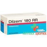 Дильцем РР 180 мг 100 таблеток покрытых оболочкой