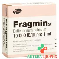 Фрагмин раствор для инъекций 10'000 МE/мл 10 ампул по 1 мл