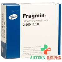 Фрагмин раствор для инъекций 2500 МE / 0,2 мл 10 предварительно заполненных шприцев по 0,2 мл