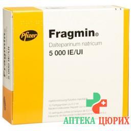 Фрагмин раствор для инъекций 5000 МE / 0,2 мл 10 предварительно заполненных шприцев по 0,2 мл