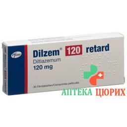 Дилзем Ретард 120 мг 30 таблеток покрытых оболочкой