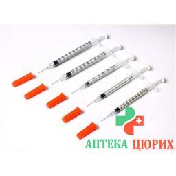 Terumo U-100 Insulin-Spritzen ohne Kanule 100x 1мл