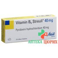 Витамин B6 Штройли 40 мг 20 таблеток