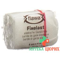 Flawa Fixelast марлевый бинт 4мX4см Weiss Cellux