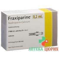 Фраксипарин 0,2 мл 10 предварительно заполненных шприцев по 0,2 мл