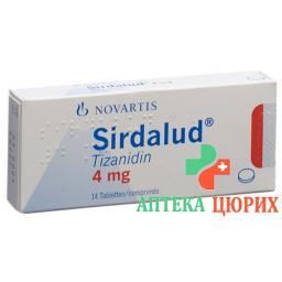 Сирдалуд 4 мг 14 таблеток